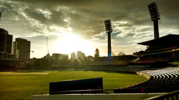 The WACA bathed in sunlight