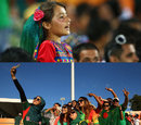 Composite: An Afghanistan fan and Bangladesh fans, Afghanistan v Bangladesh, World Cup 2015, Group A, Canberra, February 18, 2015