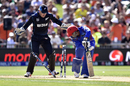 Usman Ghani was bowled with Daniel Vettori's first ball, New Zealand v Afghanistan, World Cup 2015, Group A, Napier, March 8, 2015