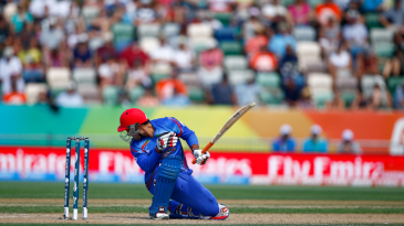 Samiullah Shenwari was struck on the helmet by a Corey Anderson delivery