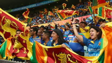 Sri Lanka fans at the Sydney Cricket Ground