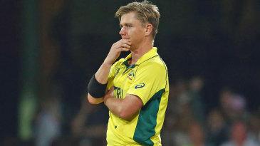 Xavier Doherty looks on during Sri Lanka's innings