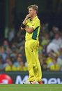 Xavier Doherty looks on during Sri Lanka's innings, Australia v Sri Lanka, World Cup 2015, Group A, Sydney, March 8, 2015
