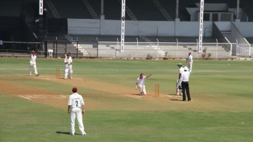 Jonathan Wilson appeals for a wicket