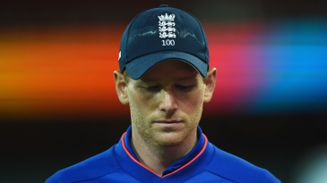Eoin Morgan can't hide his disappointment