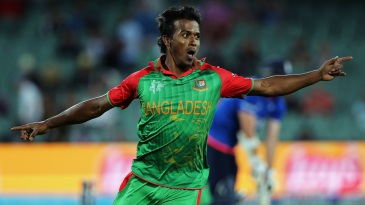 Rubel Hossain produced a double strike in the 49th over