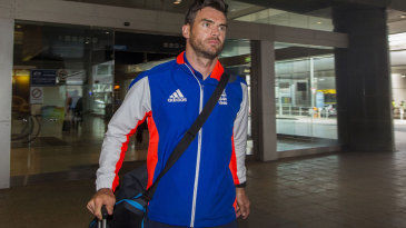 James Anderson on his way through the airport
