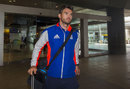 James Anderson on his way through the airport, World Cup 2015, Sydney, March 10, 2015