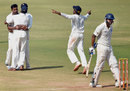 Karnataka celebrate the wicket of M Vijay, Karnataka v Tamil Nadu, Ranji Trophy final, Mumbai, 4th day, March 11, 2015