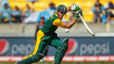 AB de Villiers plays a square drive