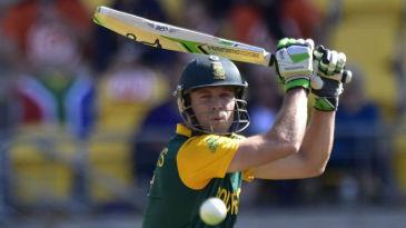 AB de Villiers' glides the ball to third man