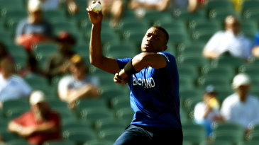 Chris Jordan bowls