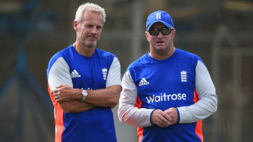 Peter Moores and Paul Farbrace, part of England's under-pressure coaching staff