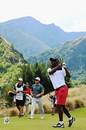Viv Richards doesn't hold back in golf either, Queenstown, March 13, 2015
