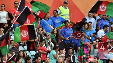 Afghanistan had strong support from their fans