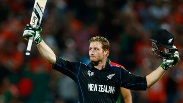 Martin Guptill made his first World Cup hundred