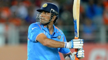 Dhoni finished the chase with a pulled six