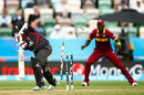 Swapnil Patil is undone by a Jason Holder delivery, United Arab Emirates v West Indies, World Cup 2015, Group B, Napier, March 15, 2015