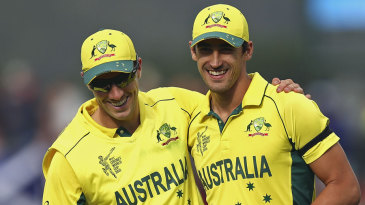 Pat Cummins and Mitchell Starc took seven wickets between them