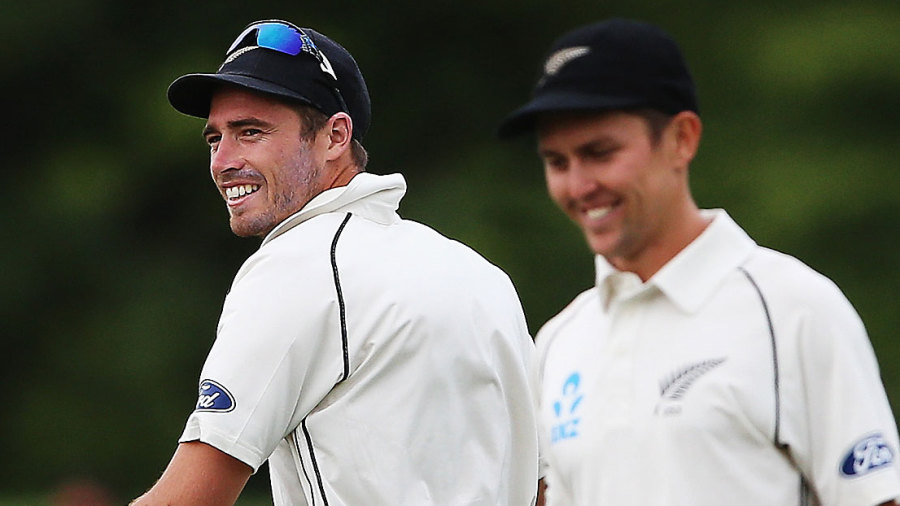 Tim Southee and Trent Boult took eight wickets between them