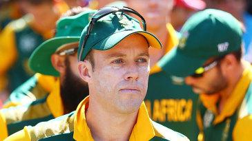 A pensive AB de Villiers before play began