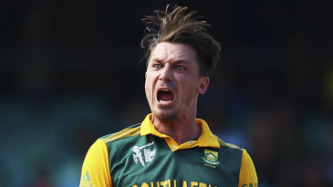 Dale Steyn was pumped after removing Tillakaratne Dilshan