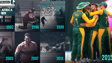 This match ended South Africa's 23-year wait for a World Cup knockout win