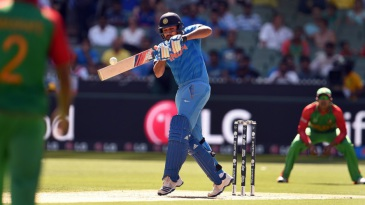 Doing it eyes closed: Rohit Sharma unleashes the pull