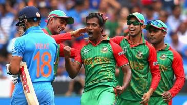 Rubel Hossain gives Virat Kohli a send-off