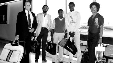 West Indies players at Heathrow