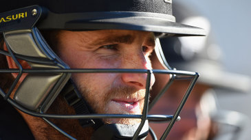 Kane Williamson waits for his turn to bat