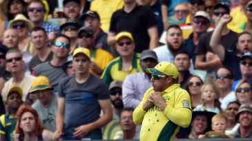Aaron Finch took three catches at deep midwicket