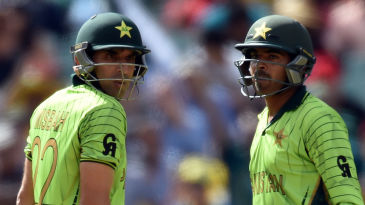 Misbah-ul-Haq and Haris Sohail put on 73 runs for the third wicket