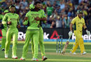 Sohail Khan rejoices after dismissing Aaron Finch, Australia v Pakistan, World Cup 2015, 3rd quarter-final, Adelaide, March 20, 2015