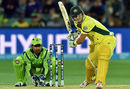 Shane Watson lines up to hit the ball, Australia v Pakistan, World Cup 2015, 3rd quarter-final, Adelaide, March 20, 2015