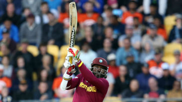Chris Gayle swings his big blade