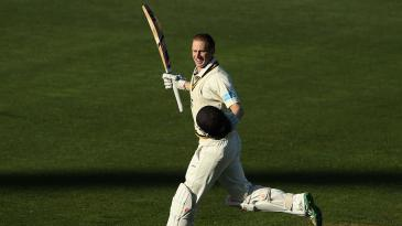 Adam Voges celebrates another hundred