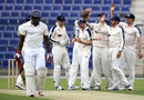 Steve Patterson celebrates the wicket of Michael Carberry, MCC v Yorkshire, Champion County match, Abu Dhabi, 1st day, March 22, 2015