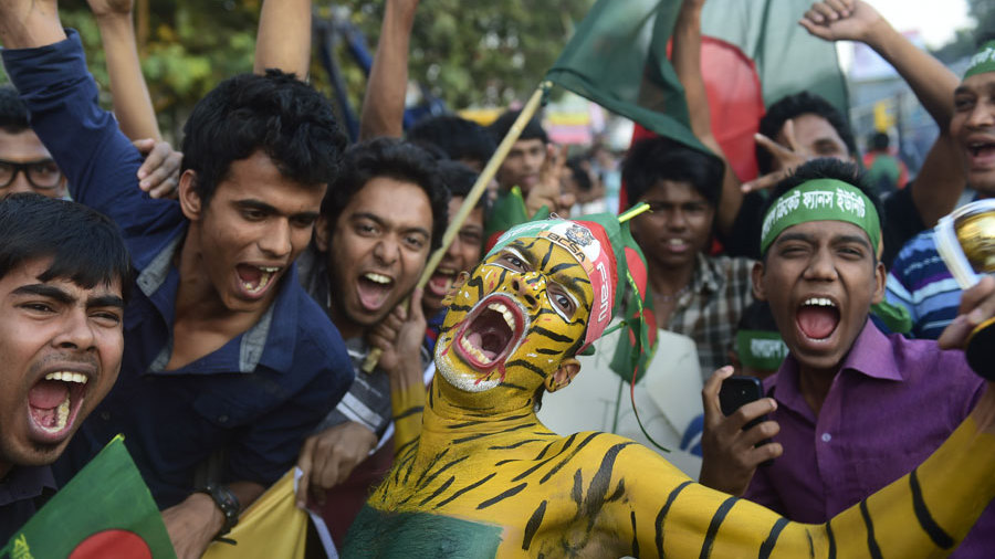 Bangladesh fans turned out in force to welcome the team home