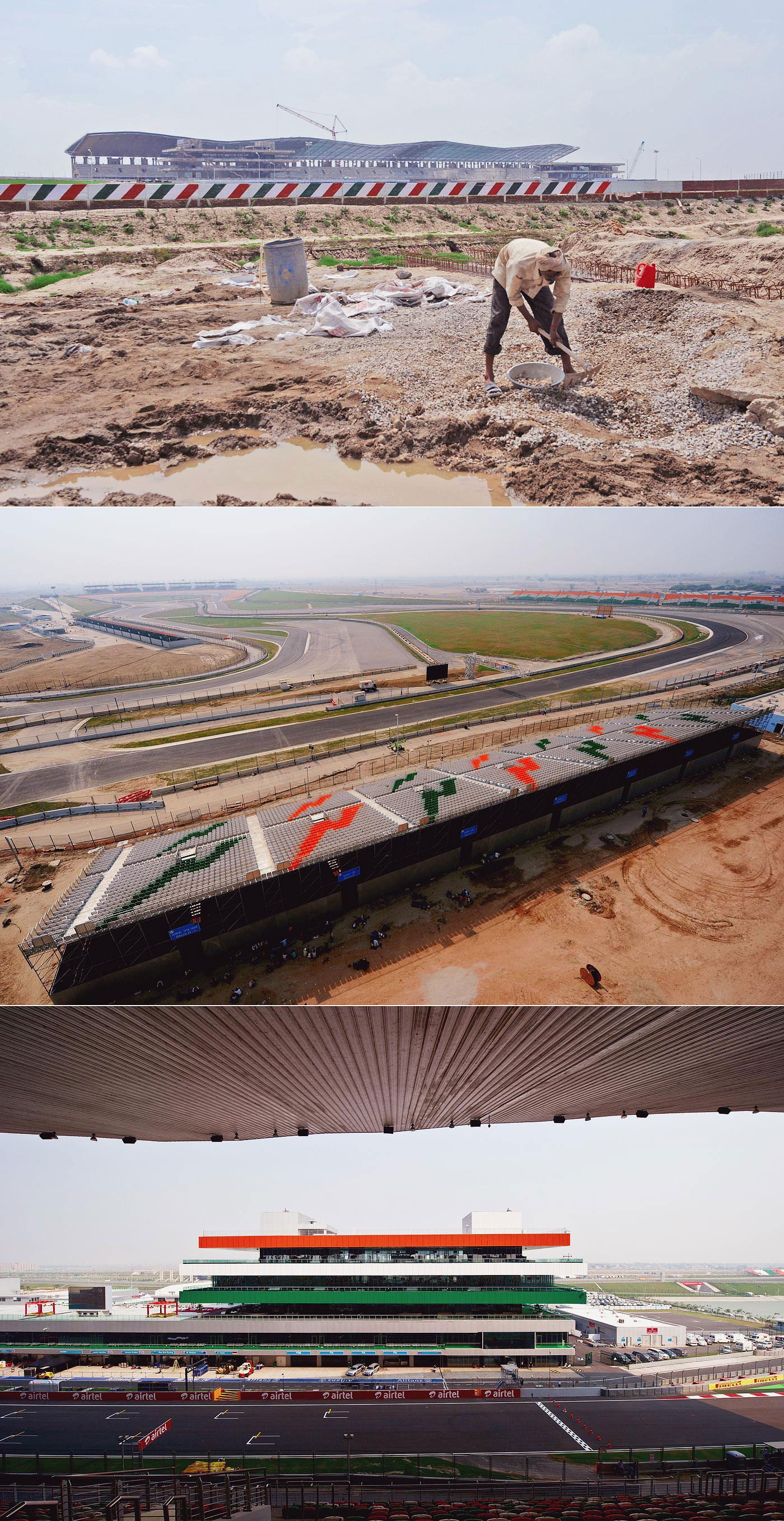 If you build it, they will come (before the tax authorities put a spoke in the wheel): the Buddh International Circuit as it came into being outside New Delhi