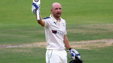 Adam Lyth takes the applause for his century