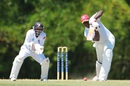 Steve Liburd drives on his way to 51, Trinidad & Tobago v Leeward Islands, Professional Cricket League 2014-15, Trinidad, 4th day, March 23, 2015