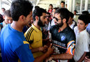 Fans greet Parvez Rasool, August 24, 2014
