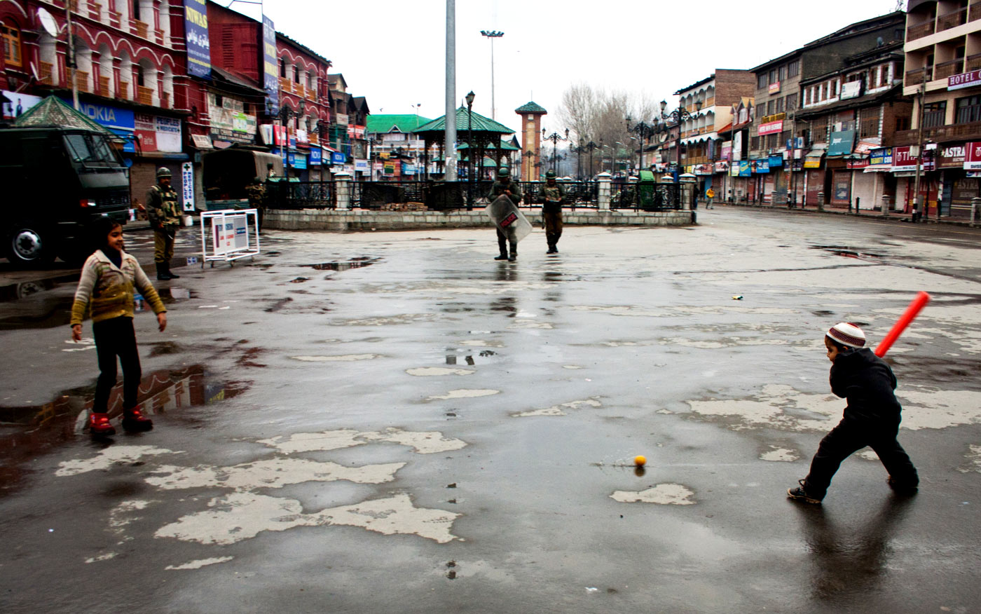 Bats and battalions: the military is an ever-present backdrop for cricket in Kashmir