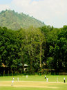 A districts selection trial match at the Sher-i-Kashmir Stadium in Srinagar, August 22, 2014