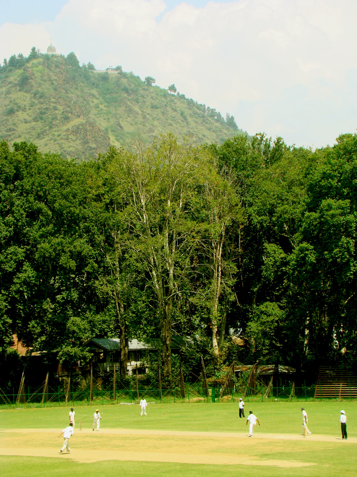 A district selection trial match at the Sher-i-Kashmir a month before the floods turned the ground into a lake