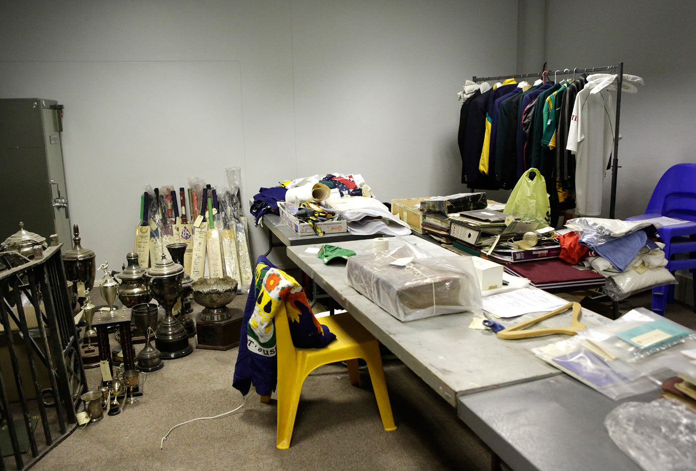Memorabilia tucked away in a Museum Africa storeroom in Johannesburg, unable to find an audience