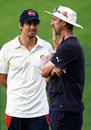 Image of the future? Alastair Cook chats with Yorkshire coach Jason Gillespie, MCC v Champion County, Abu Dhabi, 3rd day, March 24, 2015