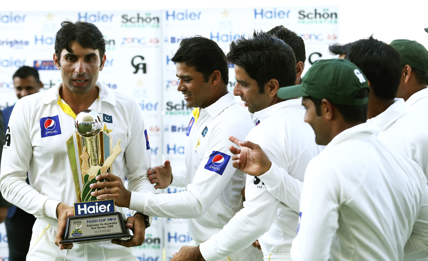 The trophy Misbah currently cherishes most is the one Pakistan got after beating Australia in UAE in 2014-15