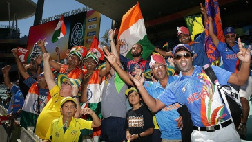 India and Australia fans set the mood ahead of the semi-final